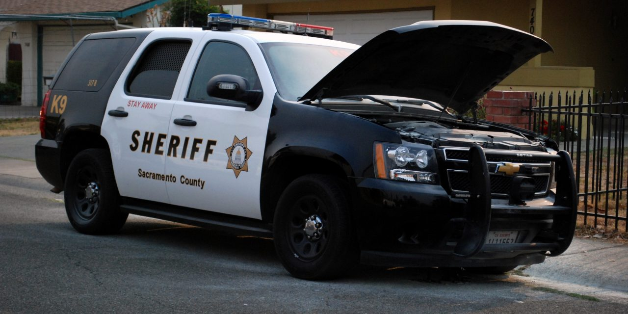 Sheriff k9 vehicle catches fire after pursuit in south for Department of motor vehicles in sacramento
