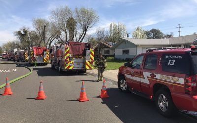 Garage catches fire in Citrus Heights home