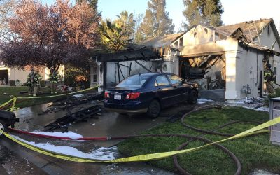 Firefighter injured after partial collapse in Antelope house fire