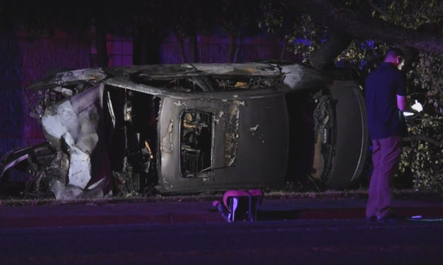 UPDATE: Vehicle rollover with fire, shooting related, Brentwood Area, Sacramento