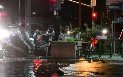 VIDEO: Early morning major accident shuts down southbound lanes of 65th Street