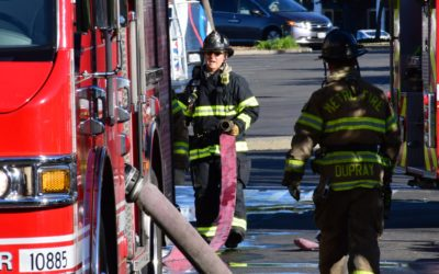 VIDEO: Second Alarm Fire breaks out at big box shopping center Monday morning