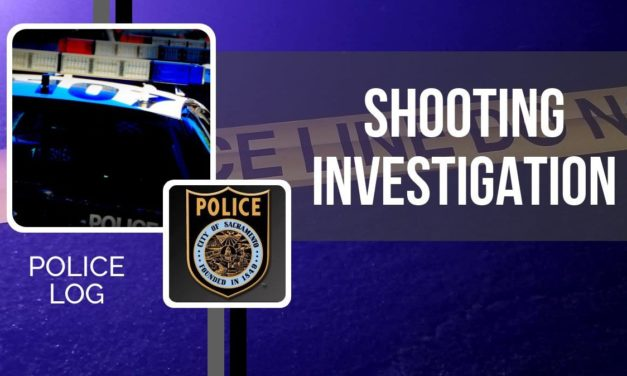POLICE LOG: Shooting, South Sacramento, September 30, 2018