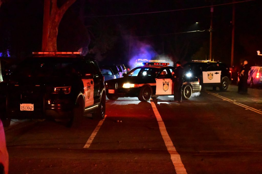 Pursuit ends in crash and wires down, South Haginwood
