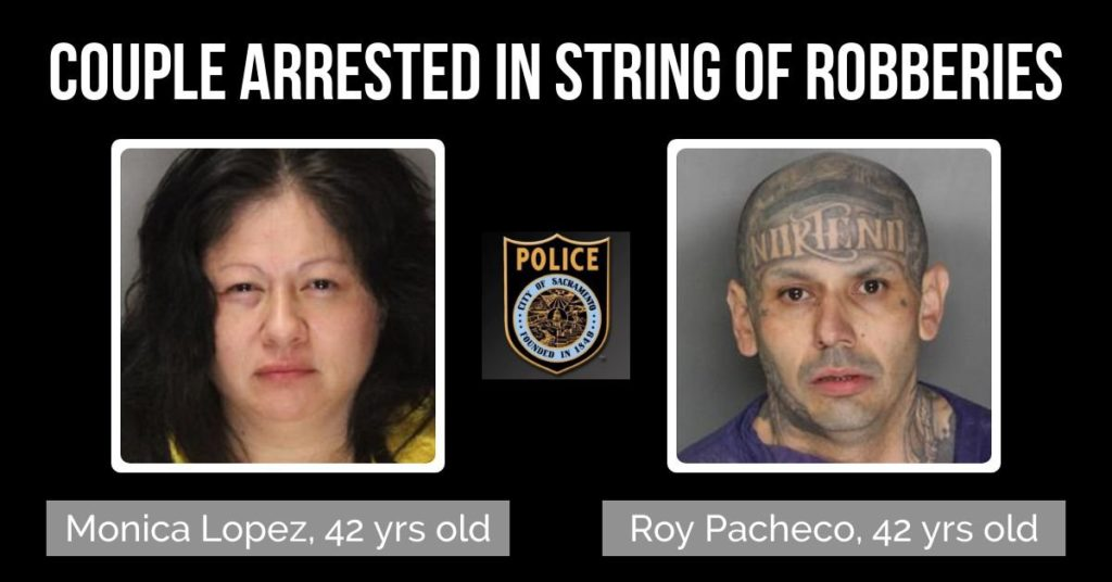 SacPD PRESS RELEASE: Two Susspects Arrested for Armed Robberies, March 8, 2019