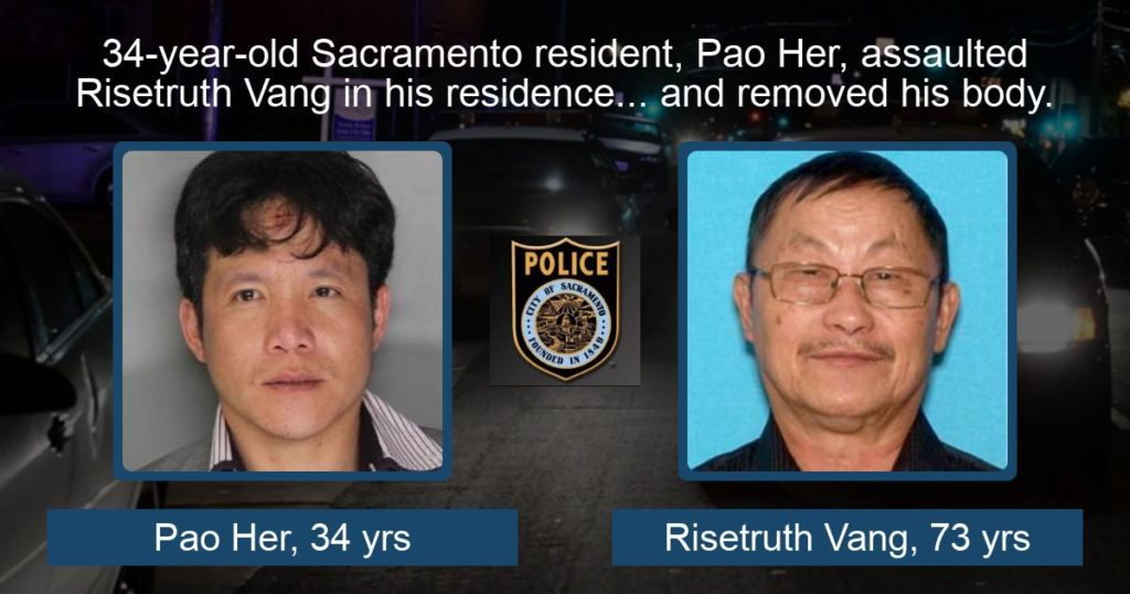 PRESS RELEASE: Sacramento Police Detectives Make Homicide Arrest in case of Missing 73-year-old